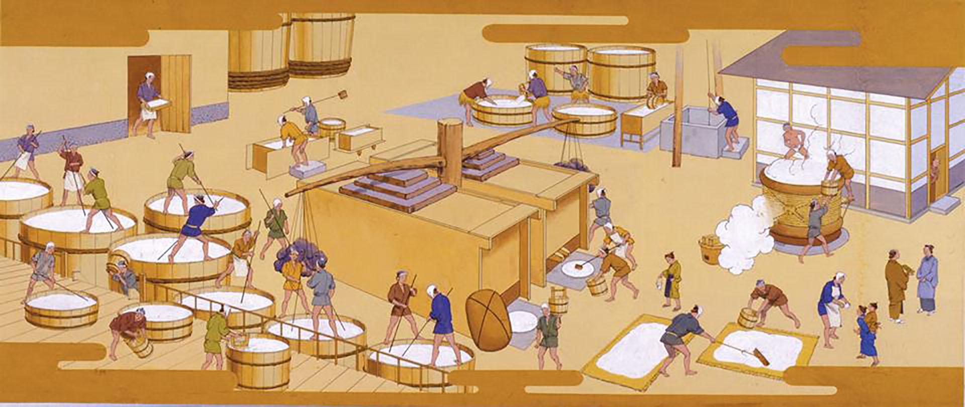 昔物語(藩政時代の酒造り)